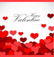 valentine heart on a white background vector image vector image