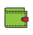 wallet online shopping filled style icon vector image vector image