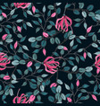wallpaper botanical with hand drawn flowers vector image vector image