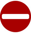 warning sign do not enter black red sign do not vector image vector image