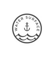 water surface graphic design template vector image vector image