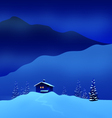 winter night landscape vector image vector image
