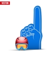 Winter Sports Fan Foam Fingers and helmet vector image vector image