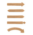 wooden pointers in shape arrows set on wall vector image