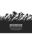 Mountain range isolated on white background vector image