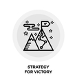 Strategy For Victory Line Icon vector image