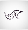 rhino logo icon vector image