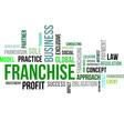 word cloud franchise vector image