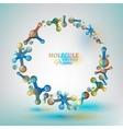 01 Molecule Frame vector image vector image