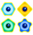 abstract eyes vector image vector image