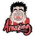 Amazing expression vector image vector image