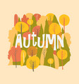 autumn forest fall background hello vector image