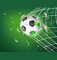 ball in soccer net goal concept vector image