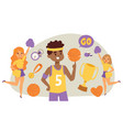 basketball player bouncing ball in gym vector image