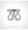 Black line icon for climbing belt vector image vector image