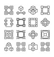 block chain icons collection of 16 vector image vector image