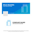 blue business logo template for matches camping vector image
