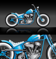 blue custom bobber on black background vector image vector image