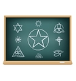 board magic symbol vector image vector image