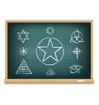 board magic symbol vector image