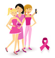 Breast cancer awareness selfie girls social media