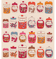 Candies in glass jars vector image