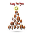christmas tree from football balls vector image