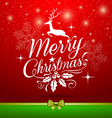 Christmas white lettering with reindeer concepts vector image