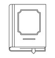 classbook icon outline style vector image