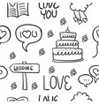 Collection stock of wedding hand draw doodles vector image