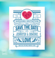 colorful save the date template textured with vector image