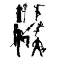 cosplay silhouette vector image vector image