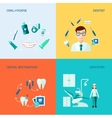 Dental Decorative Icon Set vector image vector image