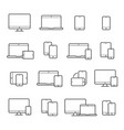 device line icon set vector image vector image