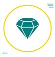 diamond sign jewelry symbol gem stone flat vector image vector image