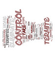 eliminate termite control text background word vector image vector image