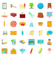 email icons set cartoon style vector image vector image