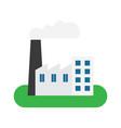 factory building icon vector image