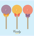 flat style design candy set vector image