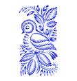 floral decorative ornament bird asleep vector image vector image