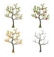 four seasons trees art vector image vector image