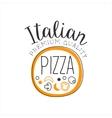 Full Pizza Round Frame Premium Quality Italian vector image vector image