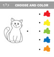funny little kitten coloring book educational vector image vector image