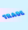 futuristic fluorescent trade composition banner vector image