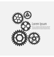 Gears icons combination background vector image vector image