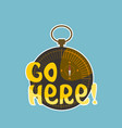go here sticker social media network message vector image vector image