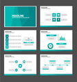 Green Polygon presentation templates Infographic vector image