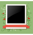 Green vintage background with photo vector image vector image