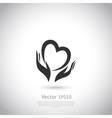 Hands holding heart symbol sign icon logo vector image vector image