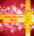 Happy New Year 2016 The colorful snow and vector image vector image